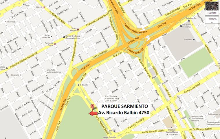mapa parque sarmiento 2013