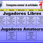 CRONOGRAMA DE ACTIVIDADES DEL CEF Jugadores LIbres